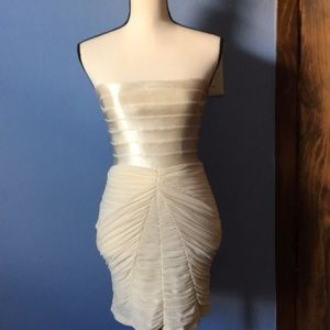 NWT Bebe off white beauriful dress